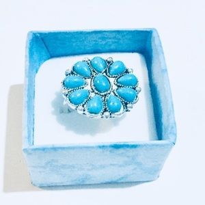 Jewelry - ⭐️Turquoise flower ring